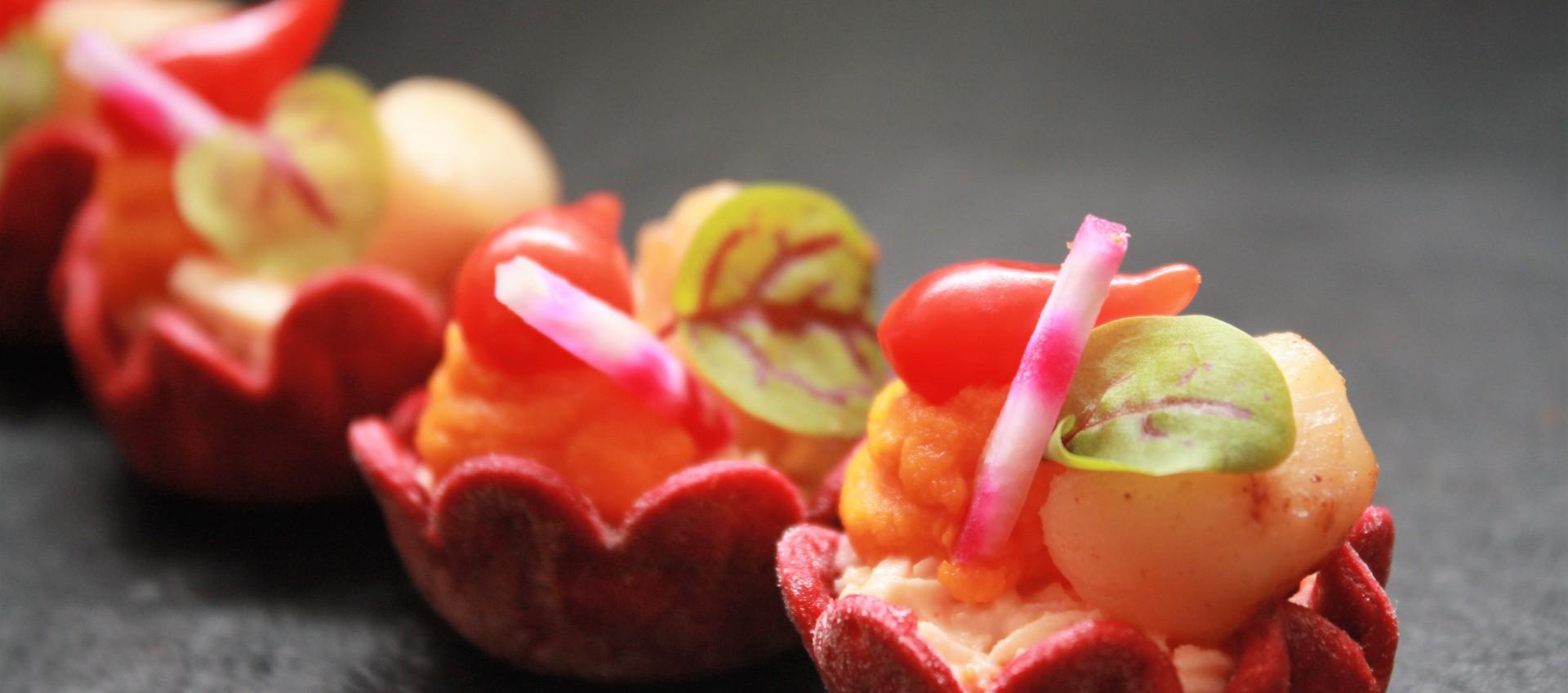 govaert traiteur Brochettes pata Negra tomates confites